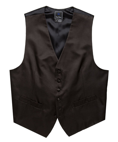 VT100001 | Black Satin Formal Vest