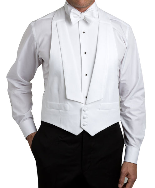 White Pique Formal Vest