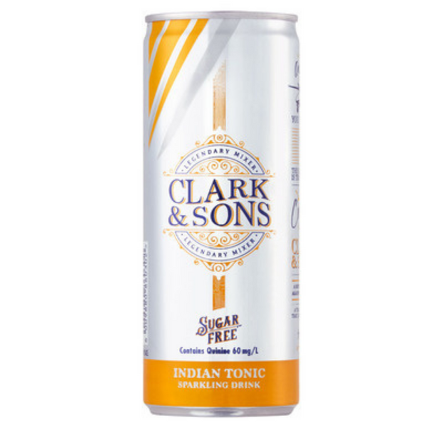 Clark & Sons Sugar Free Indian Tonic 6 x 250ml cans