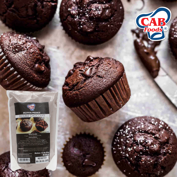 Muffin Double Choc Premix - 450g