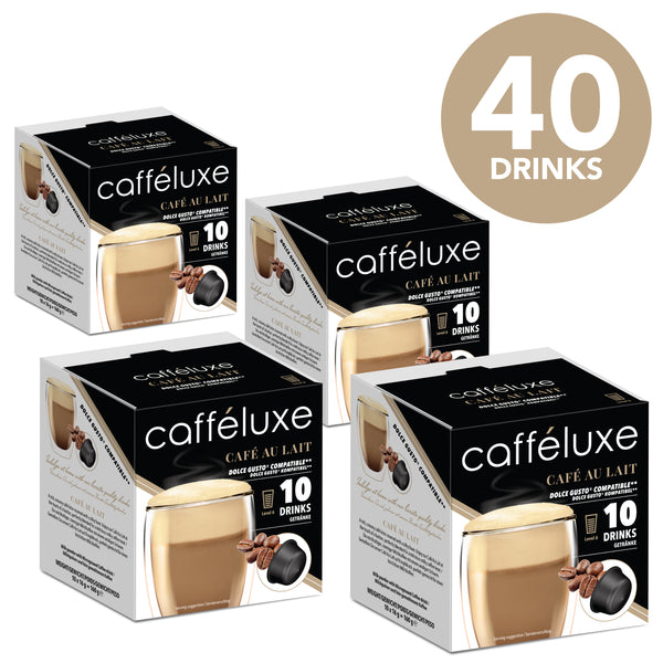 Dolce Gusto Compatible Capsules Cafe Au Lait Coffee 40 Value Pack