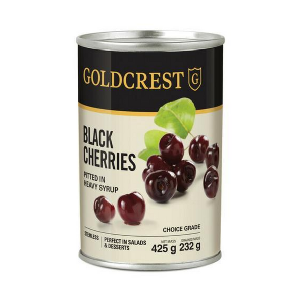Goldcrest Pitted Black Cherries 425g