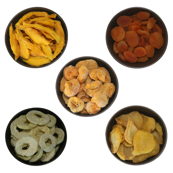 Dried Fruit Basket (Mango, Turkish Apricot, Apple, Pears, Peach) 100g x 5