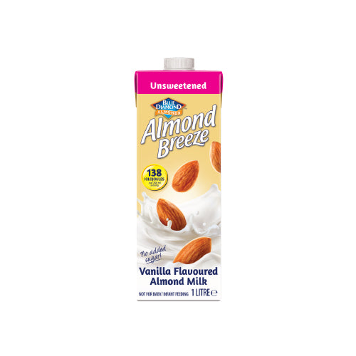 Almond Breeze Almond Milk Vanilla Unsweetened 1lt
