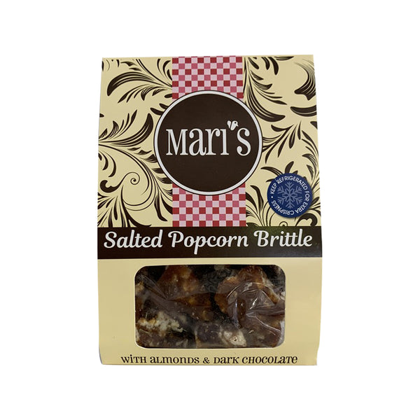 Mari's Almond & Dark Chocolate Salted Popcorn Brittle 90g