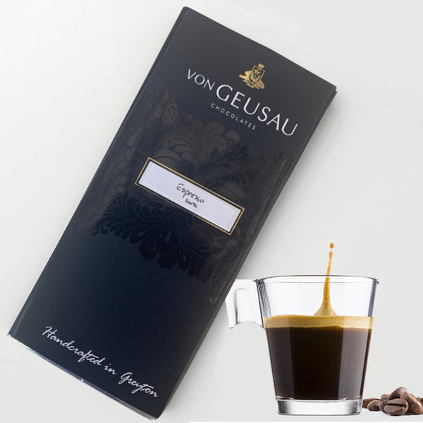 Von Geusau Espresso Dark Chocolate 100g Slab
