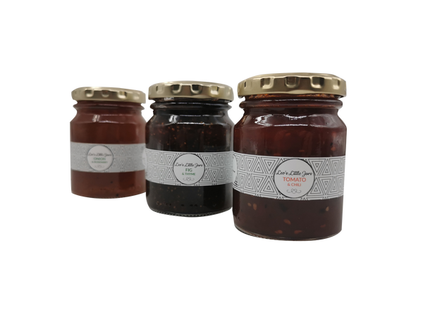 Leo's Artisanal Chutney Trio - Onion & Rosemary, Tomato & Chilli, Fig & Thyme