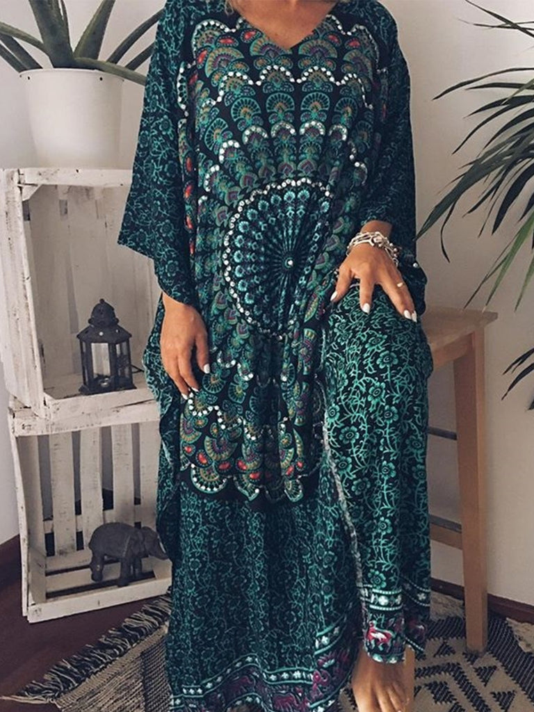 Women Casual Loose Tops Tunic Maxi Dress