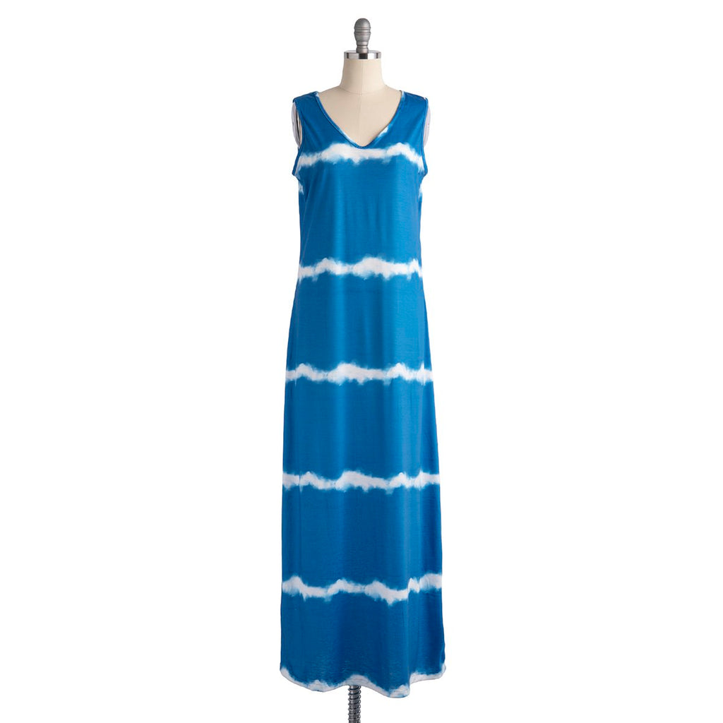 Sleeveless Color-Block Cotton Dresses