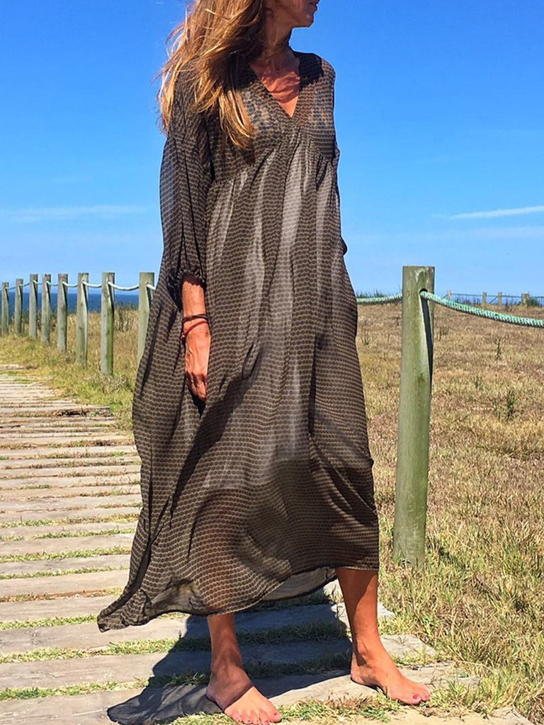 Bohemian holiday chiffon dress