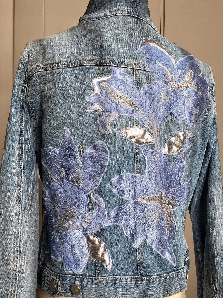 Floral Printed Denim Jacket