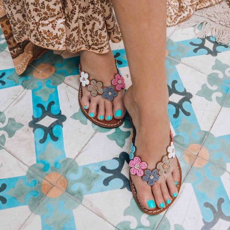 Multicolor Holiday Boho Sandals