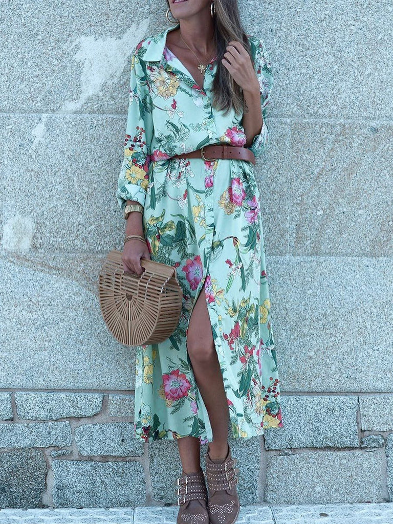 Floral-Print Cotton Holiday Dresses