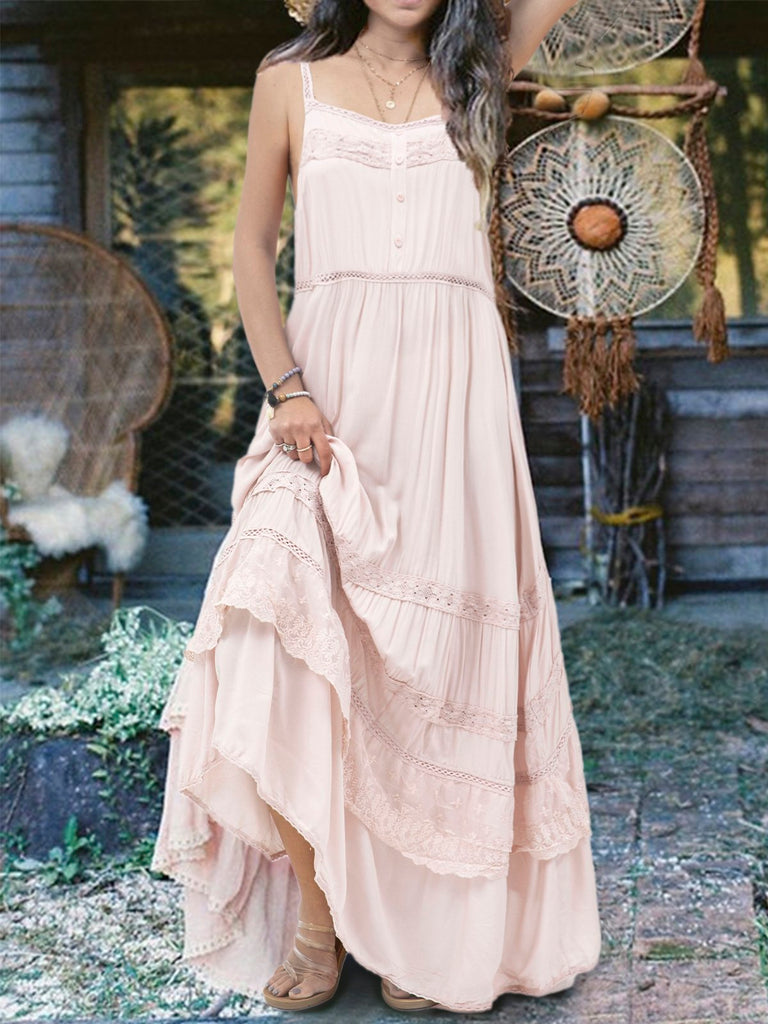 Pink Sleeveless Cotton Dresses