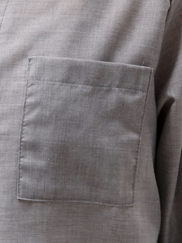 3/4 Sleeve Simple & Basic Linen Pockets Shirts & Tops