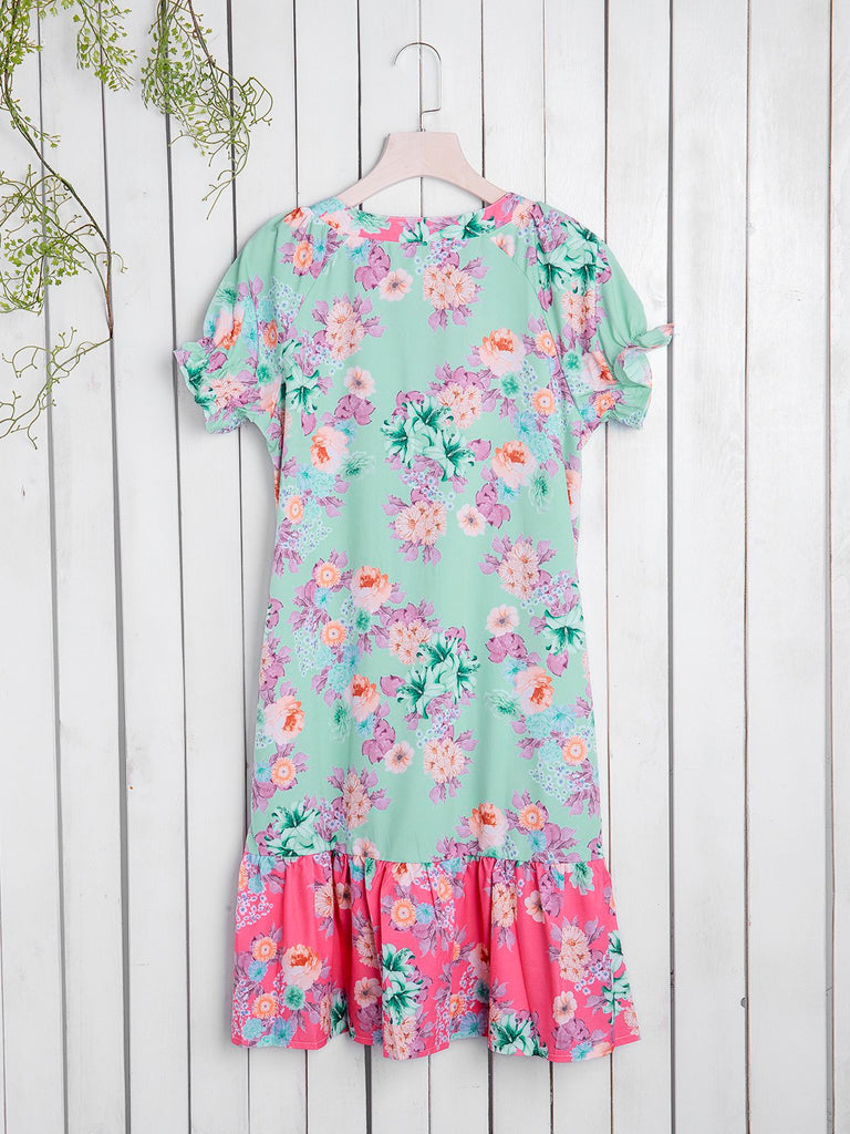 Floral Short Sleeve Dresses