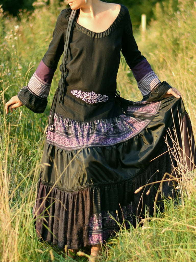 medieval Solid Cotton Vintage Dresses