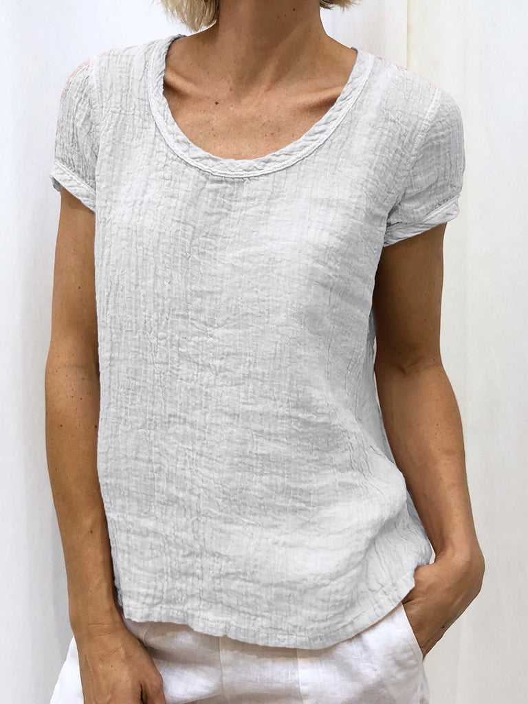 Summer Short Sleeve Round Neck Casual T-Shirts