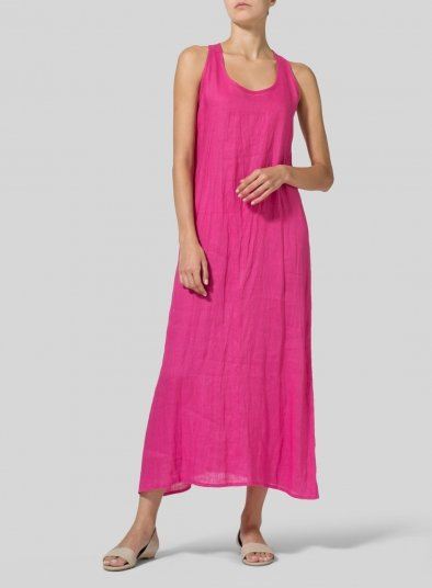 Annychloe Casual Solid A-Line Sleeveless Maxi Dress