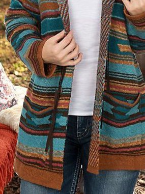 Casual Tribal Plus Size Cardigan