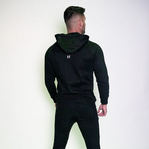 Fitted Block Hoodie - Obsidian Black