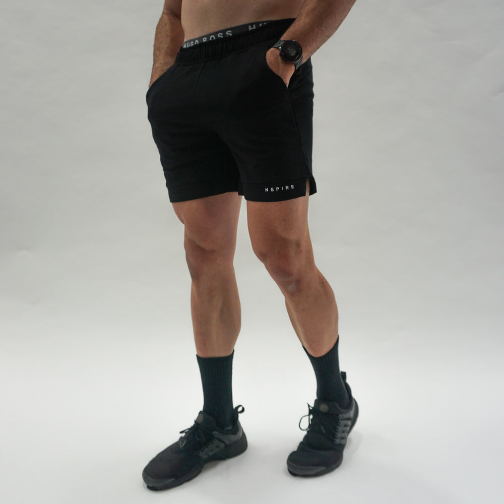 Mens Premium Performance Shorts - Black