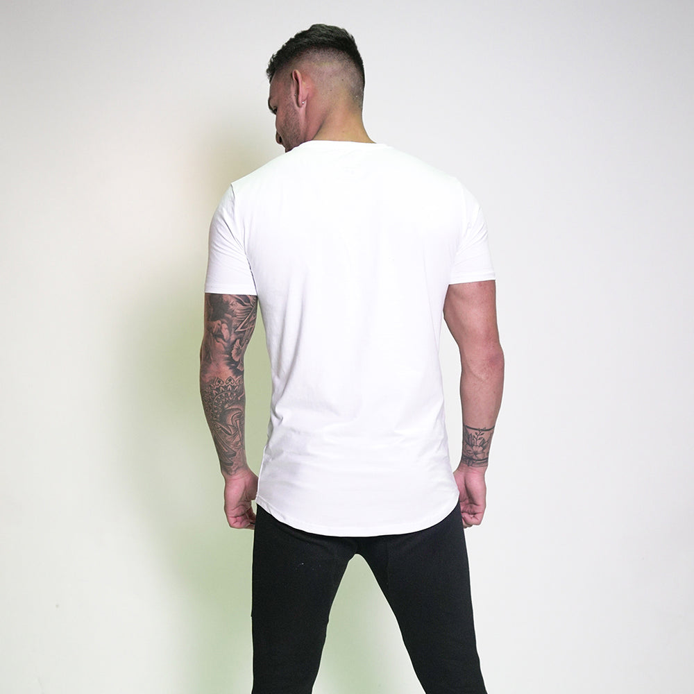 Script Casual Tee - Absolute White