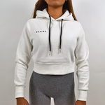 Cropped Hoodie - Pearl White
