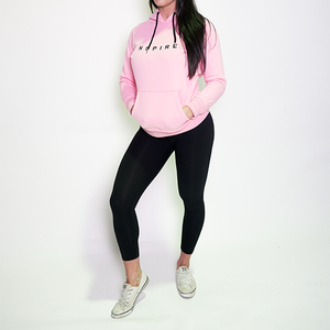 Fitted Block Hoodie - Rose Pink
