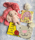 Jellycat Pink Rabbit Book