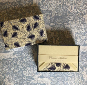 Rossi Blue Feather Notecards