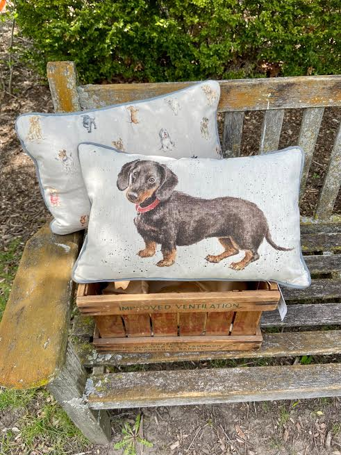 Wrendale Designs Decorative Dachshund Pillow