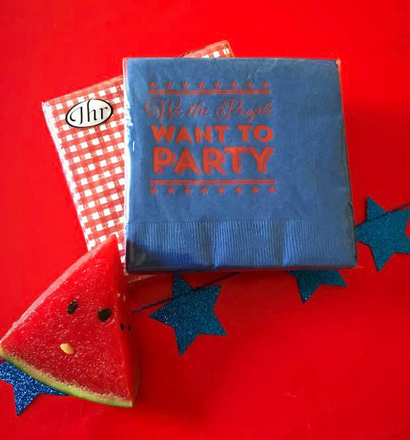 We The People Want to Party Napkins