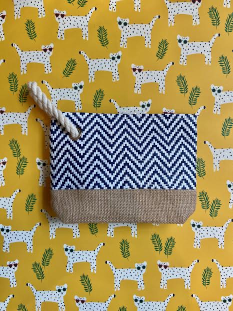 Summer Chevron Wristlet