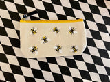 Bees & Flowers Zipper Pouches
