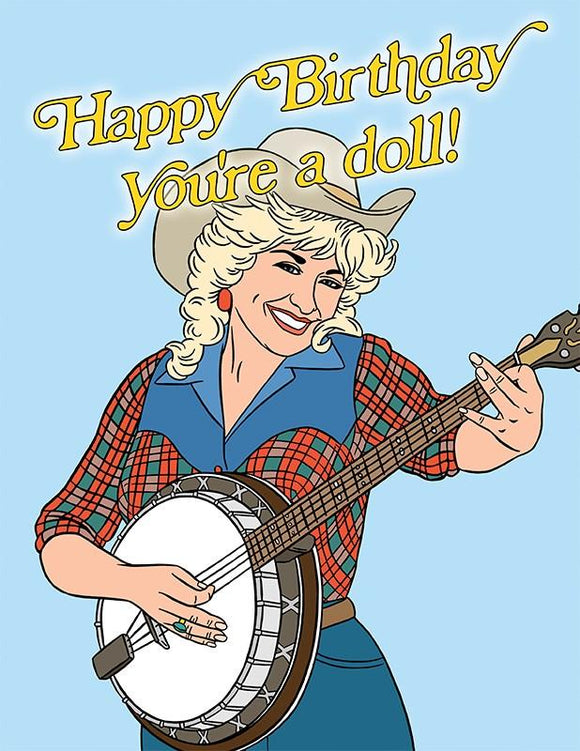 Dolly Parton Happy Birthday Card