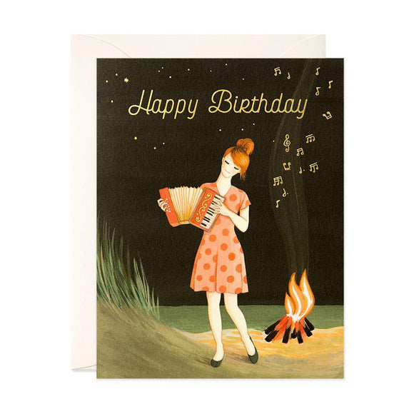 Campfire Glow Accordion Birthday Card