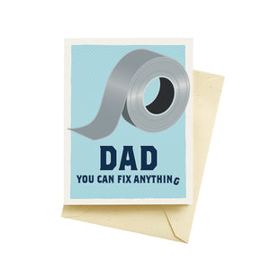 Duct Tape Father's Day Card