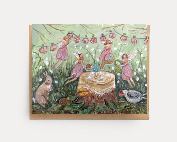 Fairy Tea Illustrated Card