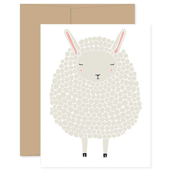 Light Gray Sheep Card