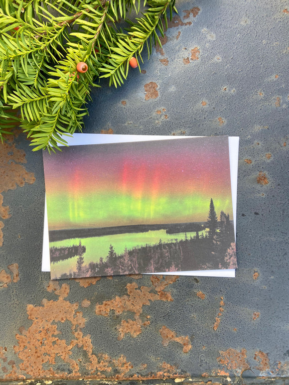 Aurora Borealis Moose Lake Notecards