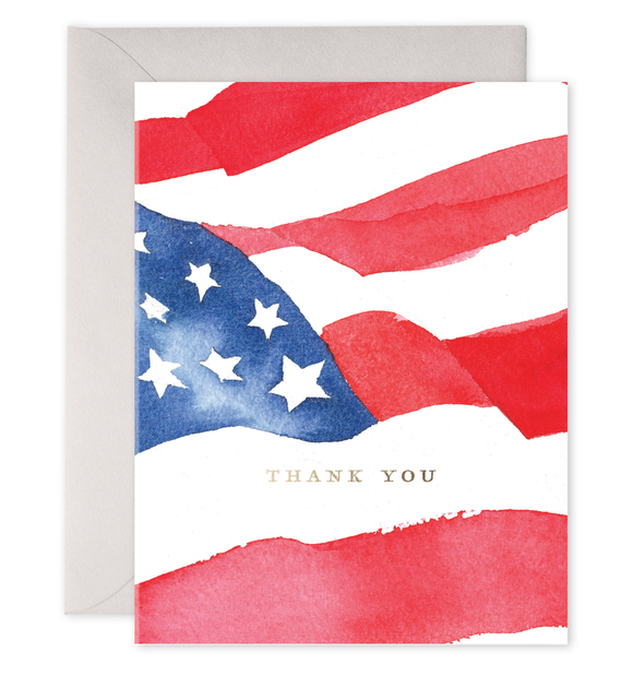 American Flag Thank You Card