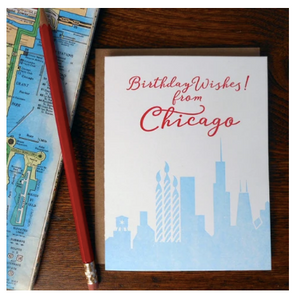 Chicago Birthday Wishes Card