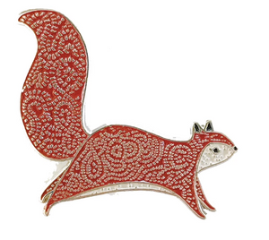 Gingiber Enamel Squirrel Pin