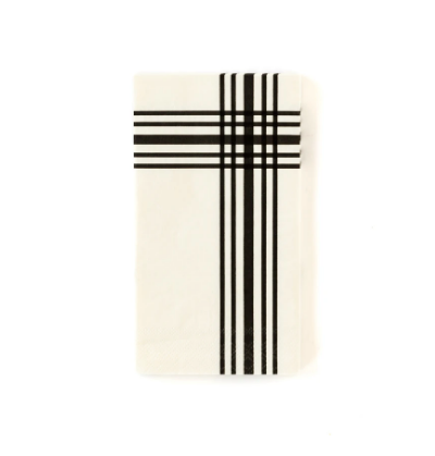 Cream Plaid Dinner Napkins
