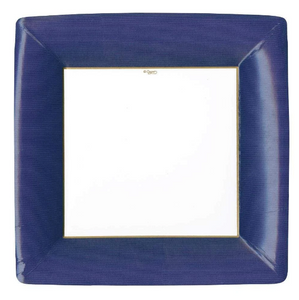 Blue Border Dinner Plates