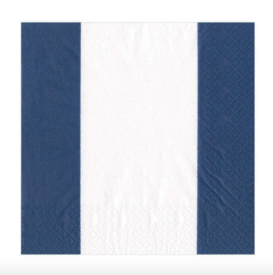 Blue and White Stripe Luncheon Napkin