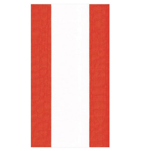Red and White Stripe Guest Towel Napkin