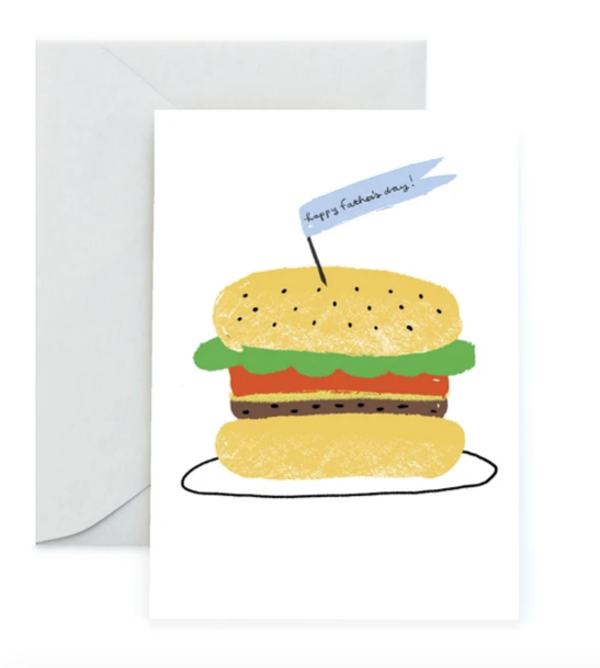 Burger Father's Day Card