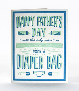 Diaper Bag Father's Day Card